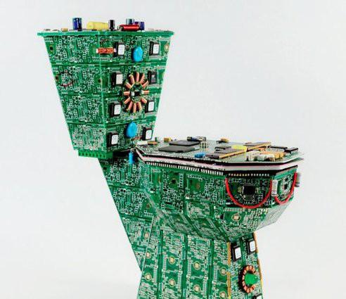 印刷电路板),它们全部都由废旧的电路板重新组装而成